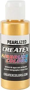 Createx Airbrush Paint, Pearl Satin Gold, 2 oz