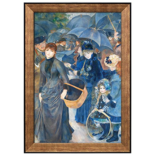 wall26 - The Umbrellas by Pierre Auguste Renoir - Framed Art Prints, Home Decor - 24x36 inches