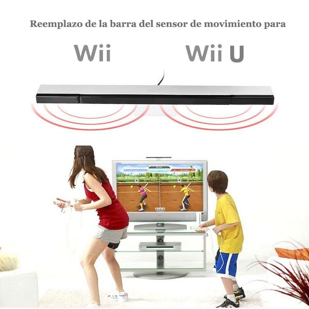 NewBull Barra de sensor de movimiento remoto con cable IR Rayo infrarrojo inductor para Wii Wii U (barra de sensor de plata): Amazon.es: Deportes y aire ...