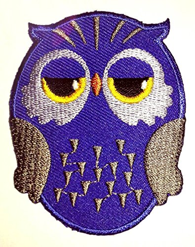 Blue Owl Iron on Patch by 3A1Y
