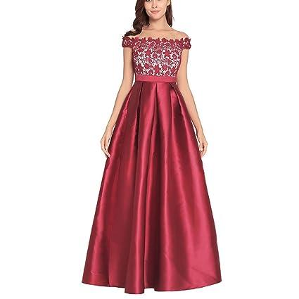 Vestido De Noche De Dama Vestido De Dama De Honor Largo Vestido De Novia De Satén