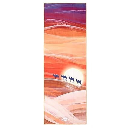 Toalla de yoga (183 x 66 cm) – antideslizante, 100% microfibra, absorbe el sudor, bolsa de transporte; mejor elección para para practicar yoga, ...