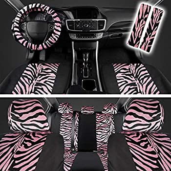 Amazon Com 17 Piece Animal Print Seat Covers And Two Tone