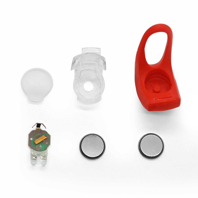 rando bo/îtier en silicone Grenhaven mini lampe LED silicone lumi/ère LED v/élo accessoire pour v/élo /éclairage poussette marche