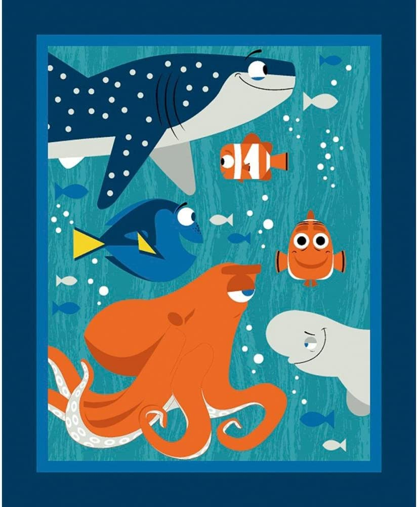 Disney Finding Dory Fabric Sold by The Yard by The Panel
