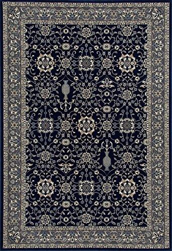 Art Carpet Kensington Collection Serene Border Woven Area Rug, 8' x 11', Navy/Gray (Collection Rug Serena)