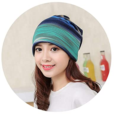 Hats for Women Striped Beanie Hats Hip Hop Head Wrap Cap for Women Girls Gorras Mujer