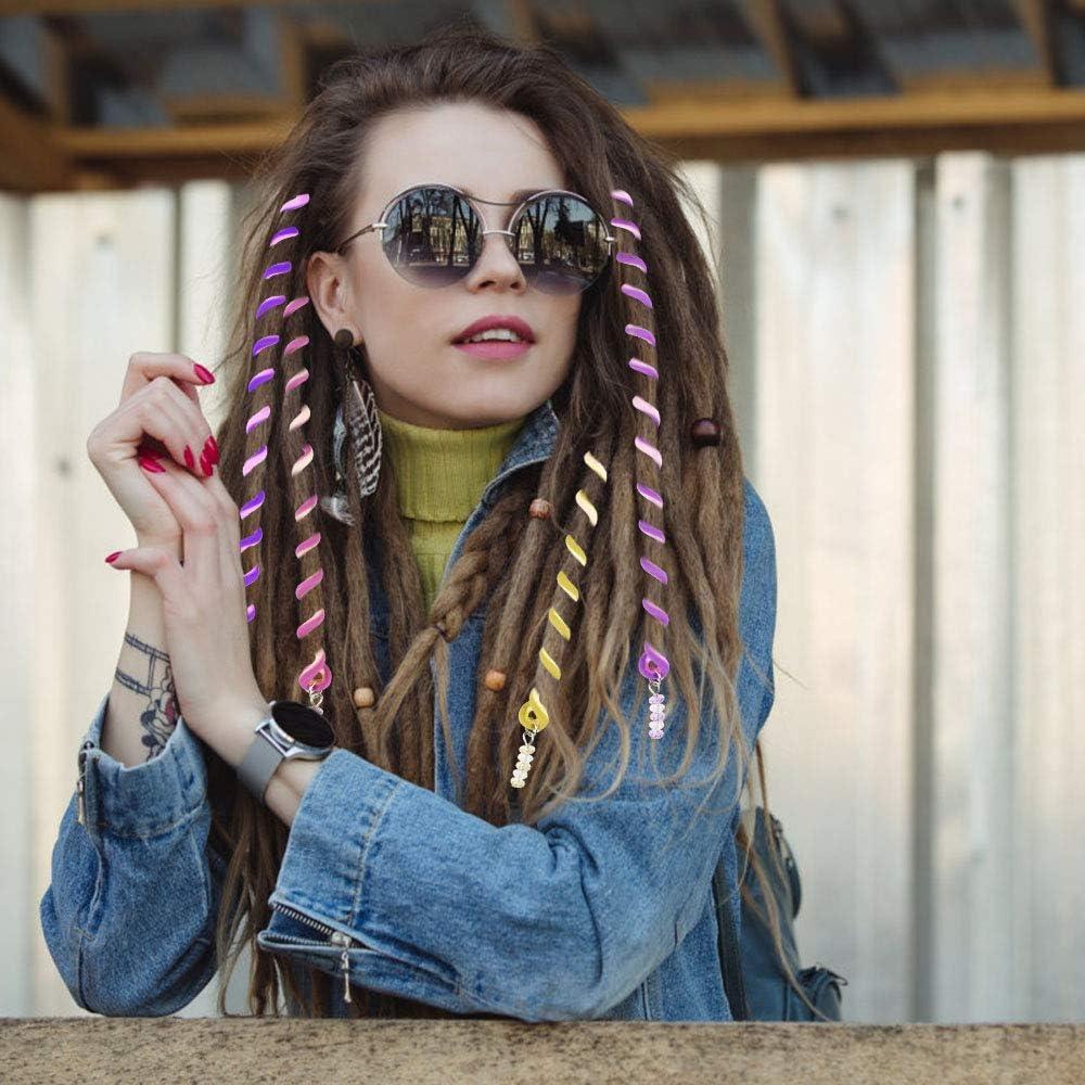 Multicolor 18pcs Accesorios de Pelo Ni/ña Gomas Pelo Ni/ña Pelo Espirales Decoracion de Trenzas Multicolor Lazo de Pelo para Ni/ña Mujer Chica como Fiesta Regalo de Cumplea/ños de Hija