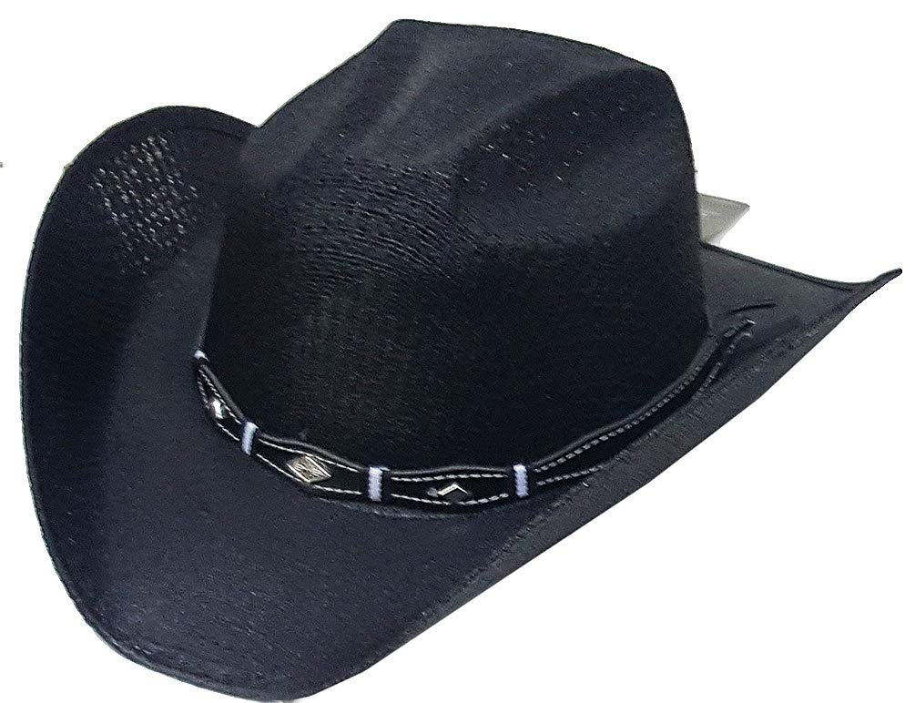 Modestone Kids Straw Cowboy Hat Leather-Like Hatband ''for Small Heads'' by Modestone (Image #1)