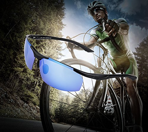 Polarized Sunglasses BUDGET & GOOD UVA/UVB Protection Outdoor Cycling Sports Sunglasses with Al-Mg TR90 Frame Fashion Motorcycle Goggles Eyewear for Skating Skiing Running Fishing Golf Bike - Budget Best Sunglasses Brands