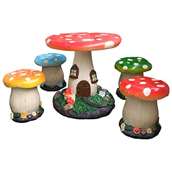 Enchanted Mushroom Furniture Set  sc 1 st  Amazon UK & Enchanted Mushroom Furniture Set: Amazon.co.uk: Garden \u0026 Outdoors