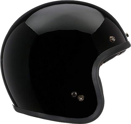 92b3c232 Amazon.com: Bell Custom 500 Open-Face Motorcycle Helmet (Solid Gloss Black,  Large): Automotive