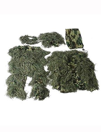 Amazon.com: Traje de camuflaje de camuflaje verde en 3D ...