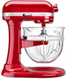 KitchenAid KF26M2XER 6-Qt. Professional 600 with Glass Bowl Empire Red