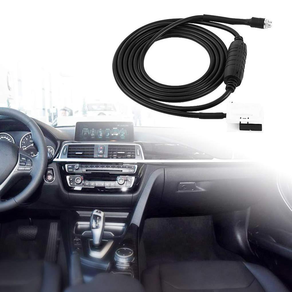 ELENXS Voiture Femelle AUX Adaptateur dentr/ée Audio auxiliaire C/âble AP pour BMW E60 E61 E63 E64 Car Styling