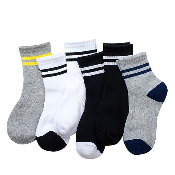 Chickwin pack de 6 calcetines de boy de diseño, algodón, talla única calcetines de