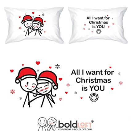 Amazon.com: BOLDLOFT Merry Christmas Couples Pillowcases|Christmas ...