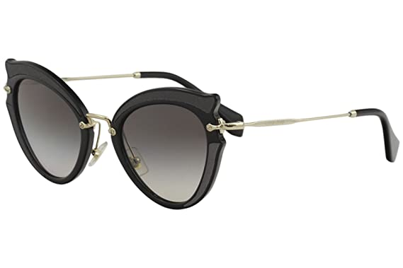 81aec180f8f7 Amazon.com  Miu Miu Women s 0MU 05SS Black Grey Gradient Sunglasses  Miu Miu   Clothing