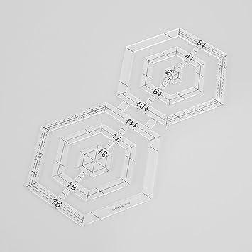 plantilla de patchwork acr/ílico para dibujar costura manualidades DIY herramienta de ropa Hexagon Starnearby Plantilla de acolchado para patchwork