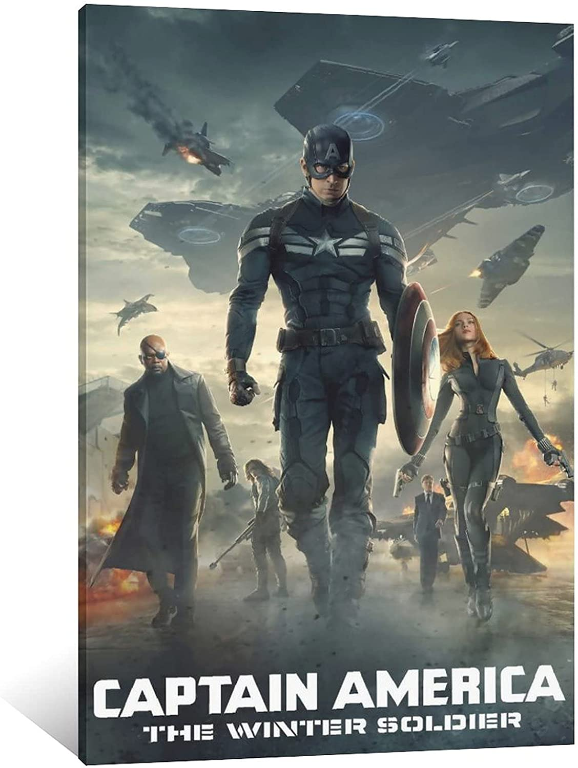 Superheroes Wall Art Marvels The Winter Soldier Poster Canvas Prints Home Decor 16×24inch(40×60cm)