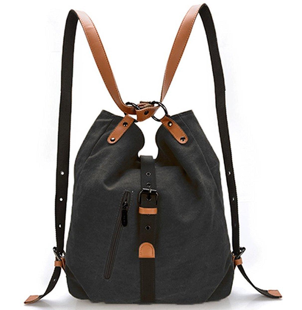 Women Shoulder Bag Ladies Fashion Backpack Purse Multifunctional Casual Backpack Canvas Handbags Blue