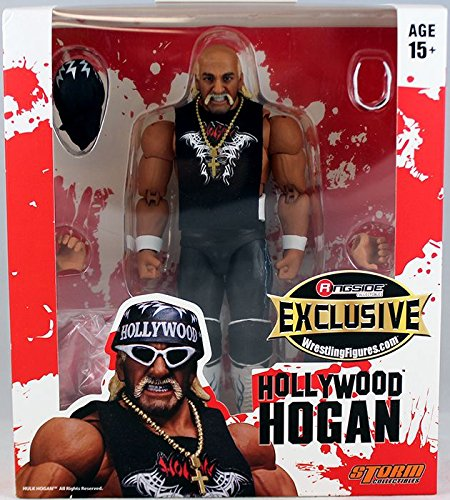 - Wrestling Red And White Hollywood Hulk Hogan - Ringside Collectibles Exclusive Storm Collectibles Toy Action Figure