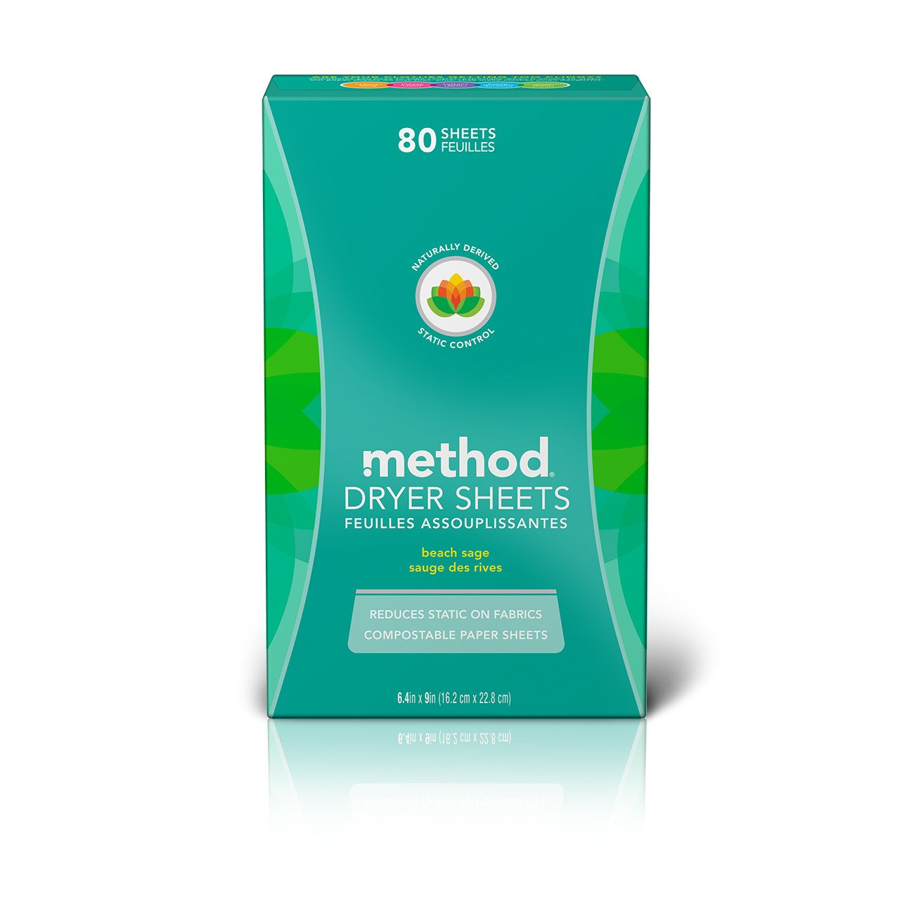 Method Dryer Sheets, Beach Sage, 80 Sheets (6 Count)