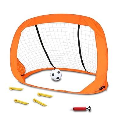 Akokie Pelota Futbol,Portería de Fútbol Plegable Deportes ,Aire Libre Interiores de Futbol para Niños Adecuado para 3 4 5 6: Deportes y aire libre
