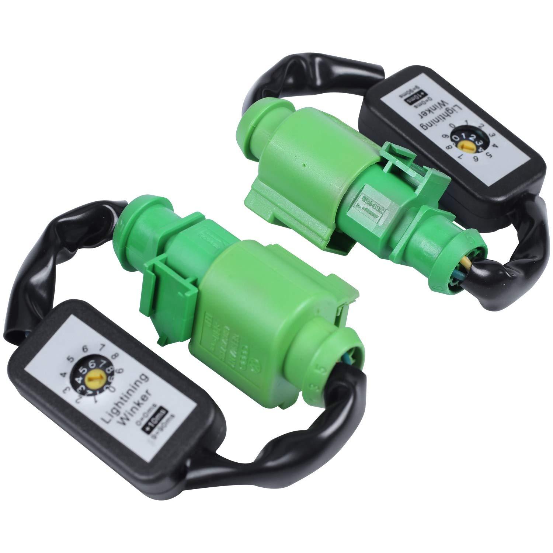 Gaoominy Indicatore di Direzione Dinamico Indicatore di Direzione Un LED Modulo Aggiuntivo per Fasci di Cavi Cablaggio per A3 8V