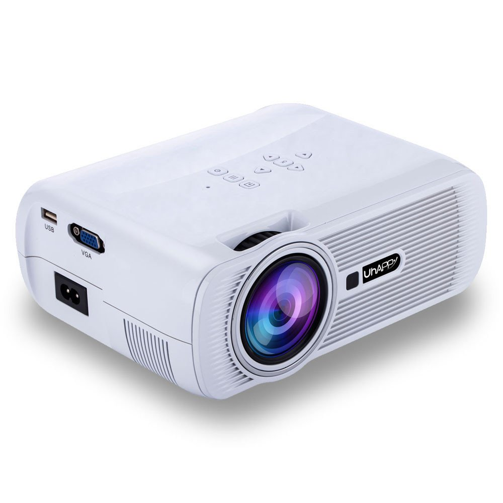 Factorys 1080P proyector LED, proyector HDMI de 1000 Lux con ...