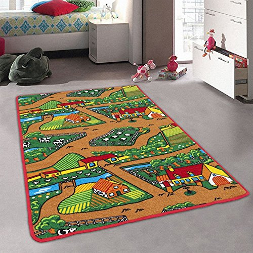 CR FARM ANIMALS KIDS EDUCATIONAL FUN PLAYROOM NON-SLIP RUG PLEASE CHECK ALL THE PICTURES (3 Feet x 5 (Champions 3 Photo)