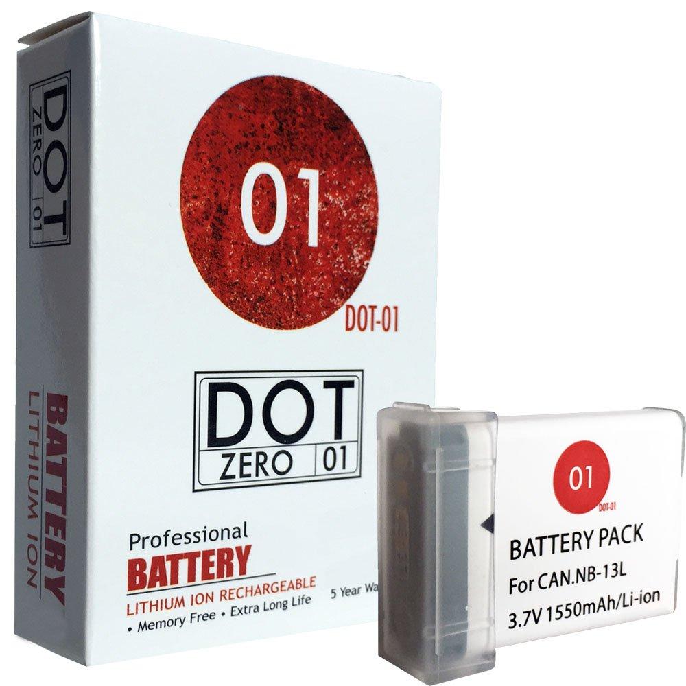 DOT-01 Brand Canon PowerShot G1X Mark III Battery for Canon PowerShot G1X Mark III Mirrorless and Canon G1X III Battery Bundle for Canon NB13L NB-13L