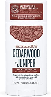 product image for Schmidt's Deodorant Cedarwood + Juniper Natural Deodorant, No Aluminum. No Artificial Fragrance, Certified Vegan and Cruelty Free (Pack of 3)
