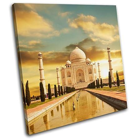 Bold Bloc Design - Taj Mahal Golden Landmarks - 40x40cm Canvas Art ...