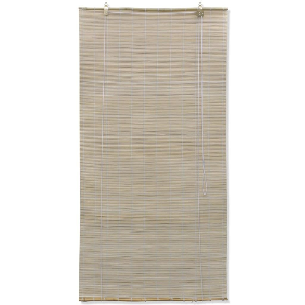 vidaXL Store Enrouleur Bambou Brun 150 x 220 cm