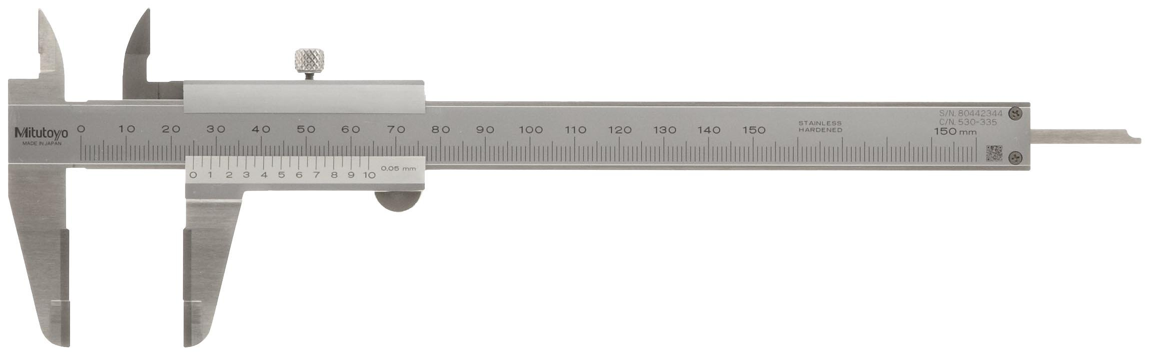 Outside 0//0mm-150mm Range Mitutoyo 530-101 Vernier Calipers 0.05mm Resolution Depth and Step Measurements Stainless Steel for Inside +//-0.05mm Accuracy 40mm Jaw Depth Metric