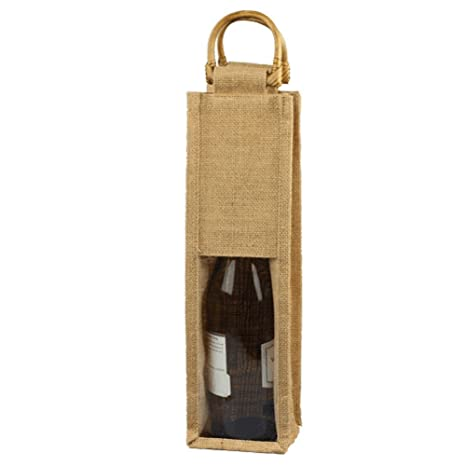 Amazon.com: Yute Vino Single bolsa Bolsas de regalo de ...
