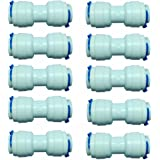 MALIDA 1/4 inch Tube to 1/4 inch Tube push fit straight quick connect for RO water system (10 pack)
