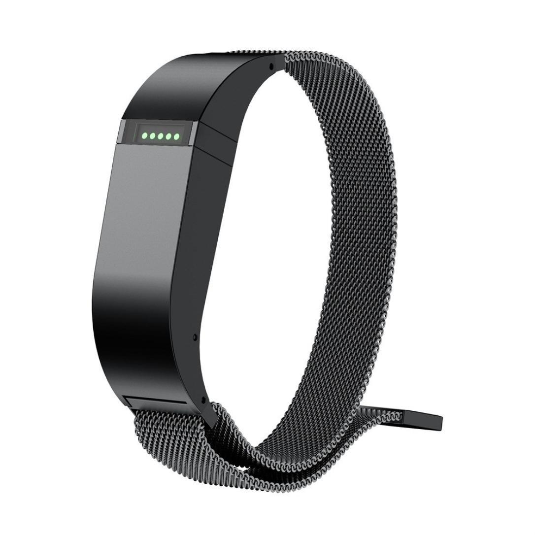 For Fitbit Flexバンド、sukeq新しいファッションMilanese磁気ループ交換用ストラップ調節可能ステンレススチールリストバンドブレスレットアクセサリーfor Fitbit Flex 2 ( 5.51 – 8.46インチ)  ブラック B07BDJSK9K