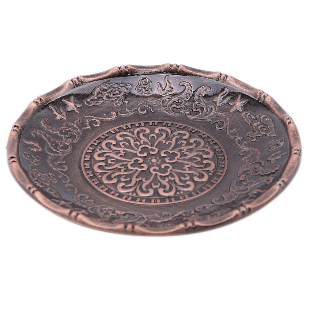 Rouge Sevenfly /Cercle en Alliage Tapis De Th/é Tasse /À Th/é Vintage Style Chinois Plateau /À Th/é Mini Tasse /À Caf/é Soucoupe Ensembles De Th/é