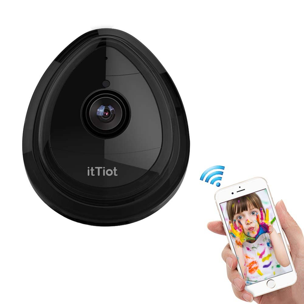 Wireless IP Camera, WiFi Security IP Camera, HD 720P Home Camera for Pet Monitor With Built-in Microphone for Indoor Usage (Black)
