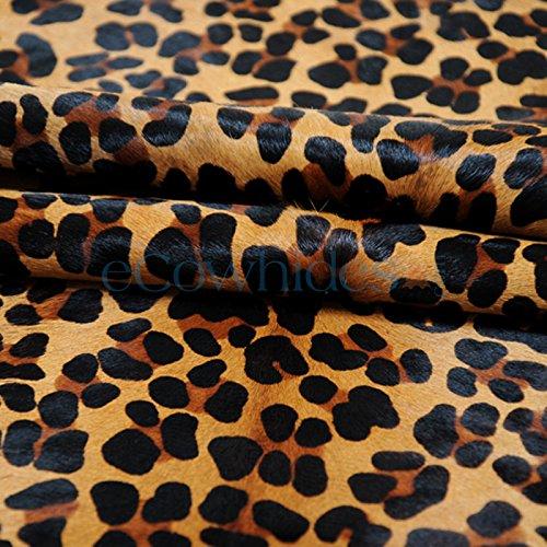 Leopard Cowhide Rug Cow Hide Skin Leather Area Rug - Leopard Cowhide