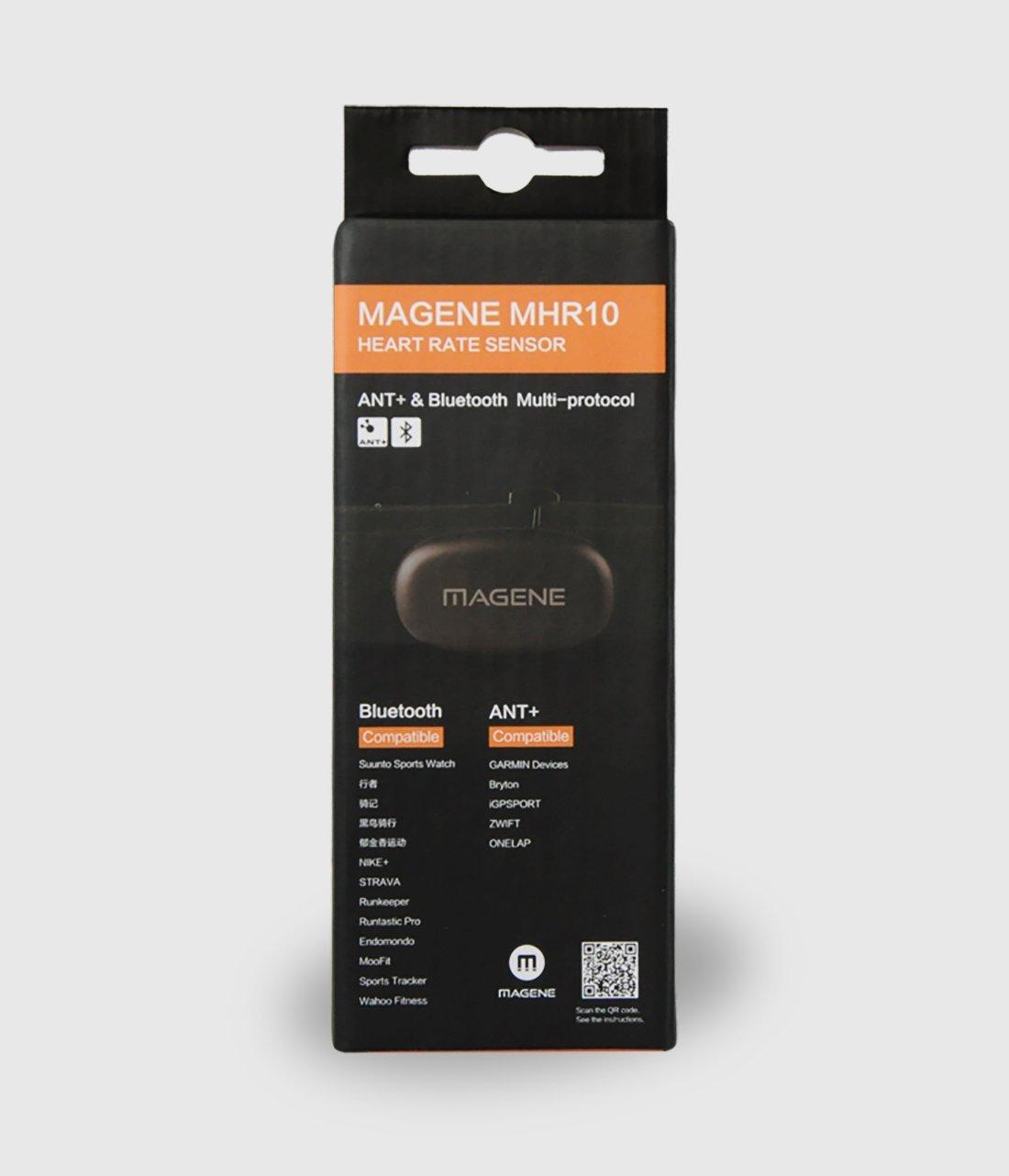 Magene - Monitor de frecuencia cardíaca con sensor Bluetooth/ANT+: ...