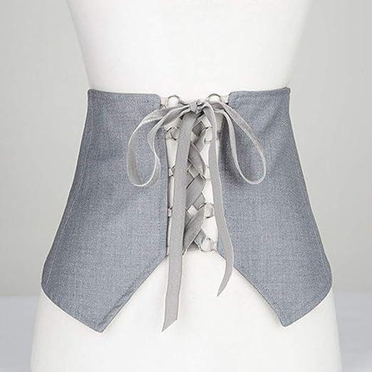 TINERS Corbata con Faja, Pretina Ancha para Mujer, Camiseta Larga ...