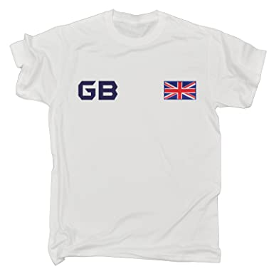 e1146b42 123t Slogans Great Britain Supporter T-Shirt British Fan Tee Flag T Shirt  Navy Logo T-Shirt: Amazon.co.uk: Clothing