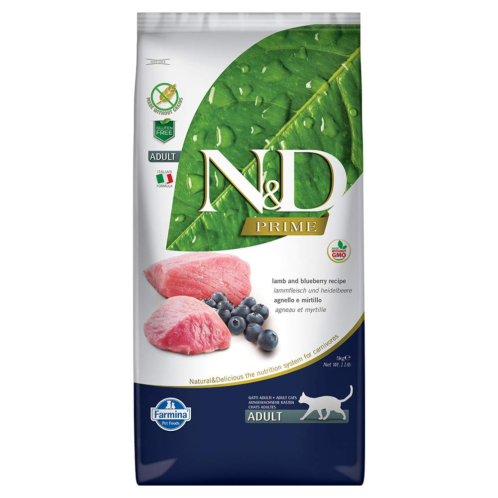 Farmina Natural & Delicious Grain Free Lamb and Blueberry Adult Cat, 11 lb bag by Farmina