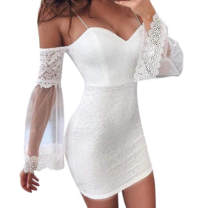 Amazon.com: Vestido Club Vestido para Mujer Fiesta Noche ...