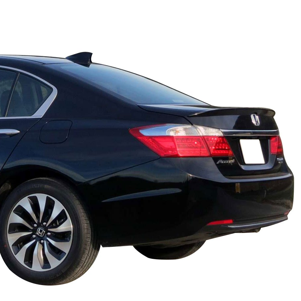 2014 2015 Painted #NH731P Crystal Black Pearl Factory Style Rear Spoiler Wing by IKON MOTORSPORTS Pre-Painted Trunk Spoiler Fits 2013-2016 Honda Accord