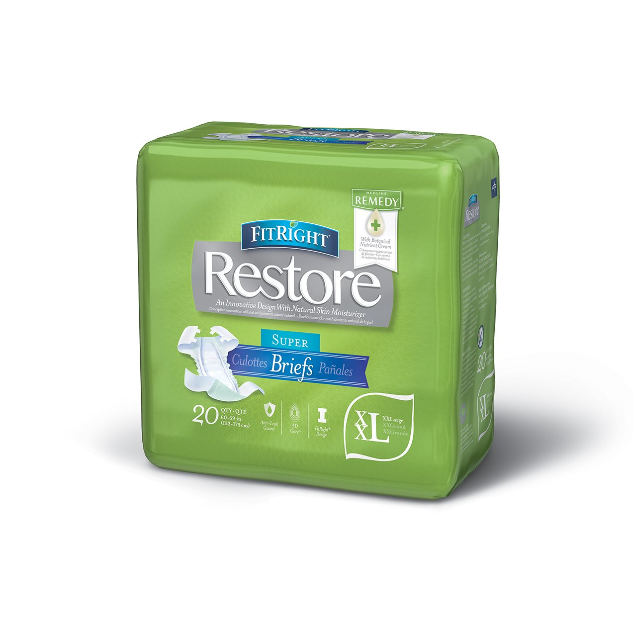 Amazon.com: FitRight Restore Adult Briefs with Tabs, Maximum Absorbency, XX-Large, 60