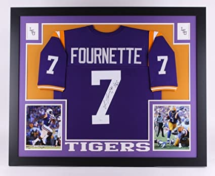 super popular fe4ba f983c Leonard Fournette Signed LSU Tigers 35